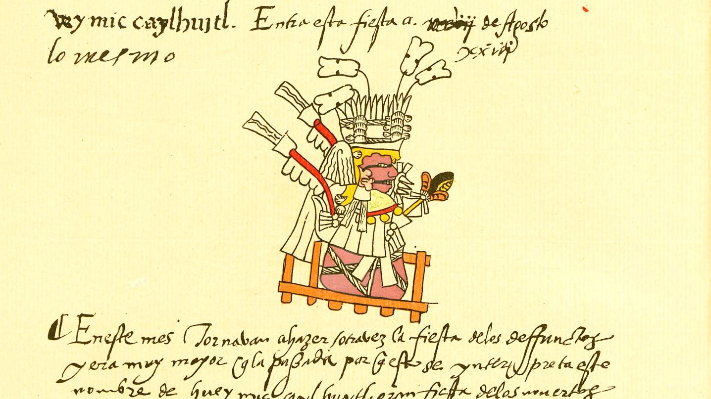 La Fête des morts. Codex Telleriano-Remensis, p. 2v.
