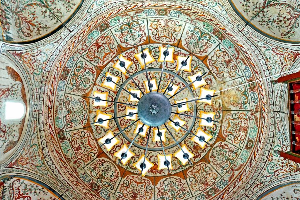 Mosquée Et'hem Bey, Tirana (Albanie), construite de 1794 à 1821, photo Dennis Jarvis (2013) sur Flickr.