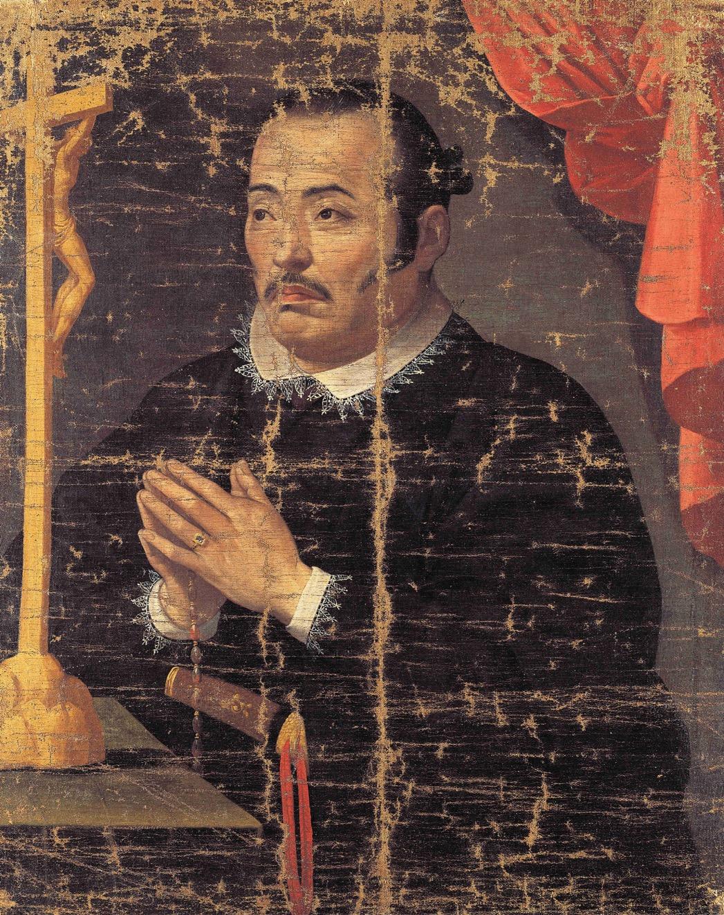 Hasekura Tsunenaga, converti au catholicisme à Madrid en 1615
